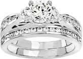 MODERN BRIDE 1 1/2 Ct. T.W. Diamond 14K White Gold Bridal Set