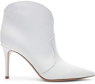 Gianvito Rossi Mable Mid Booties in White | FWRD