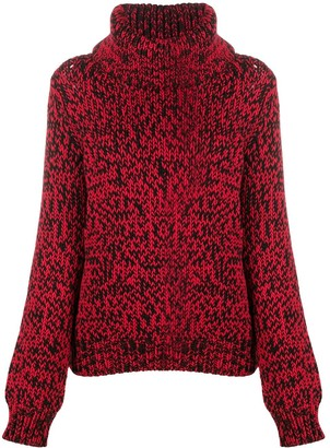 Mulberry Chunky Roll-Neck Sweater