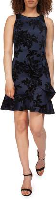 Dex Sleeveless Ruffle-Hem Floral Dress