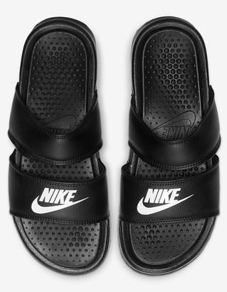 Nike Benassi Duo Ultra Womens Black Slide Sandals