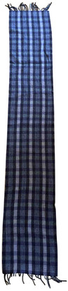 Drakes Grey Wool Scarves & pocket squares