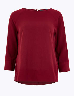 M&S CollectionMarks and Spencer Slash Neck 3/4 Sleeve Shell Top