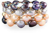 Nakamol Multihued Baroque Pearl Stretch Bracelets, Set of 4