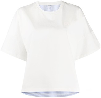 Loewe striped back cropped T-shirt