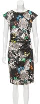Marc Cain Butterfly Print Ruched Dress