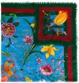 Gucci Flora Web printed scarf - women - Silk/Wool - One Size