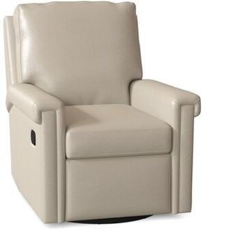 Bradington-Young Kara Power Recliner Body Fabric: Outsider Cloud, Cushion Fill: Premier Down, Reclining Type: Power Button with Battery Pack
