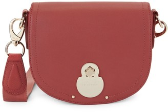 Longchamp Leather Saddle Bag