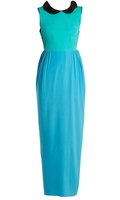 Emilio De La Morena Rouchelle ruffle-trimmed silk-blend gown