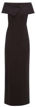The Row Joni Off-the-shoulder Jersey Maxi Dress - Black