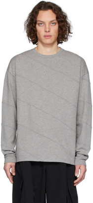 J.W.Anderson Grey Diagonal Panelled T-Shirt