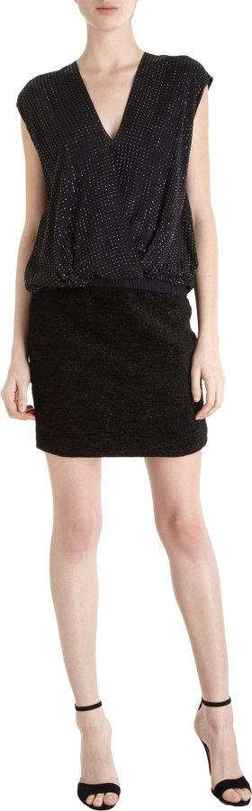 L'Agence Metallic Tweed Skirt