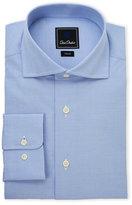 David Donahue Grid Trim Fit Dress Shirt