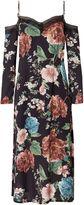 Bardot Cold Shoulder Floral Pencil Dress