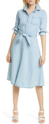 Polo Ralph Lauren Pinto Long Sleeve Chambray Shirtdress