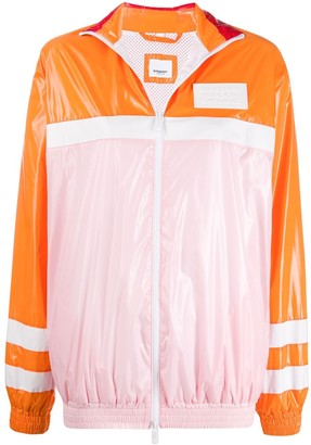 Burberry Colour Block High-Shine Jacket