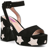 Betsey Johnson Claude Star Platform Sandals