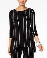Alfani Striped High-Low Top, Only at Macy's