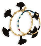 Madewell Women's Set Of 2 Tassel Stretch Bracelets