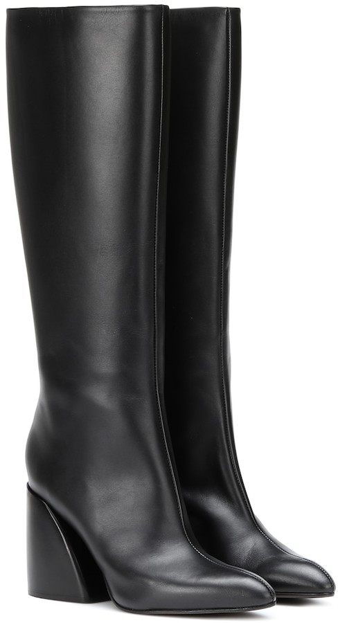9f8b343153d Leather knee-high boots