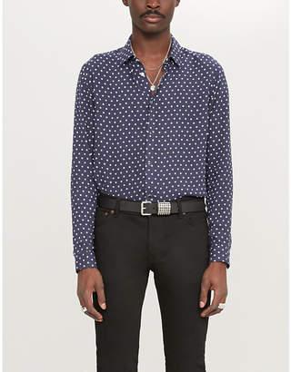 The Kooples Polka dot-print cotton shirt