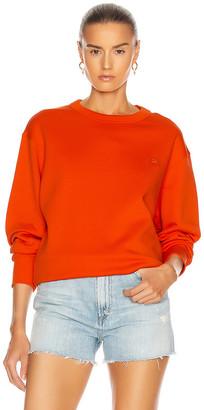 Acne Studios Fairview Face Sweatshirt in Dark Orange | FWRD