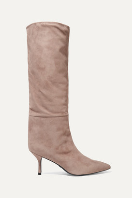 Stuart Weitzman Magda Suede Knee Boots - Taupe