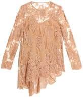 Zimmermann Asymmetric Cotton-Blend Lace Blouse
