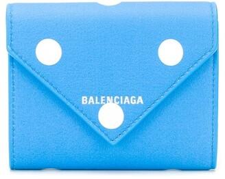 Balenciaga Papier polka-dot compact wallet