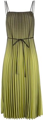 Proenza Schouler White Label Ombre Plaid Pleated Dress