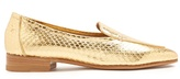 The Row Adam snakeskin loafers