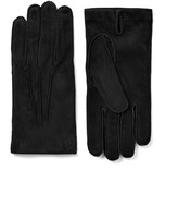 Suede Gloves In Black