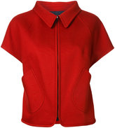 Jil Sander Navy shortsleeved jacket - women - Cotton - 32