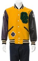 Opening Ceremony Leather-Trimmed Logo Varsity Jacket