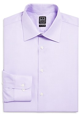 Ike Behar Mini Box Check Classic Fit Dress Shirt