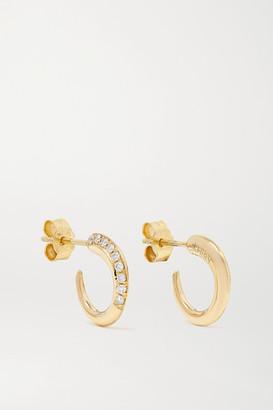 KHIRY Fine - Tiny Khartoum 18-karat Gold Diamond Hoop Earrings - one size