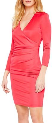 Damsel in a Dress Aya Slinky Wrap Dress, Cherry