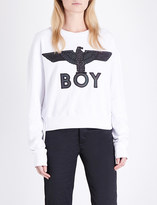 Boy London Eagle-embroidered cotton-jersey sweatshirt