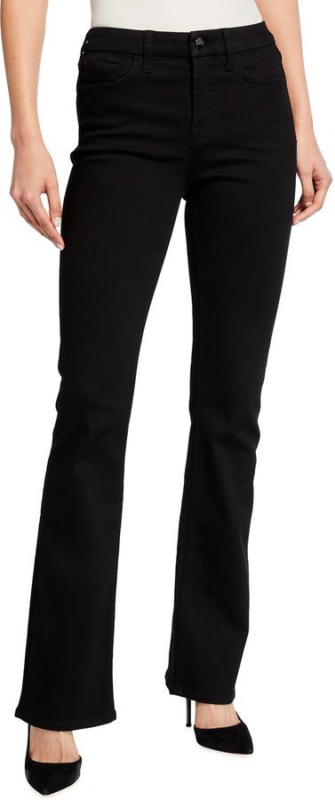 Jen7 High-Rise Slim-Fit Boot Cut Jeans, Black