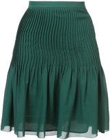 Oscar de la Renta plaid waist skirt - women - Silk - 6