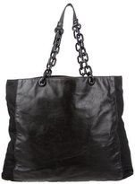 Prada Tessuto & Leather Chain Tote