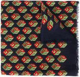 Gucci Wallpaper GG Print Cube Scarf - men - Cotton/Modal/Cashmere - One Size