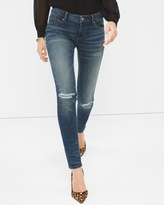White House Black Market Petite Distressed Skinny Jeans