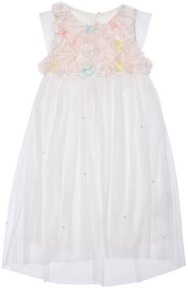 Billieblush TULLE PARTY DRESS W/ FLOWER APPLIQUES