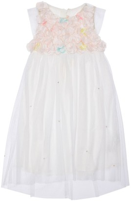 Billieblush Tulle Party Dress W/ Flower Appliques