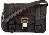 Proenza Schouler PS1 Mini Leather Crossbody Bag, Black