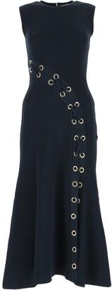 Alexander McQueen Ribbed Eyelet Dress