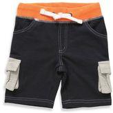 Rockin' Baby Boy's Nautical Color Block Short in Navy/Nautical Orange/Beige
