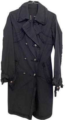 Ermanno Scervino Blue Cotton Coat for Women